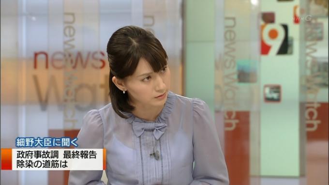 NHKのアナのブラが見えてる11