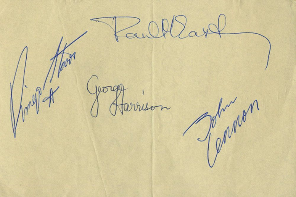 fake autographed rock memorabilia sold at charity fundraisers