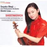 庄司紗矢香/ショスタコーヴィチ:ヴァイオリン協奏曲第1番&第2番