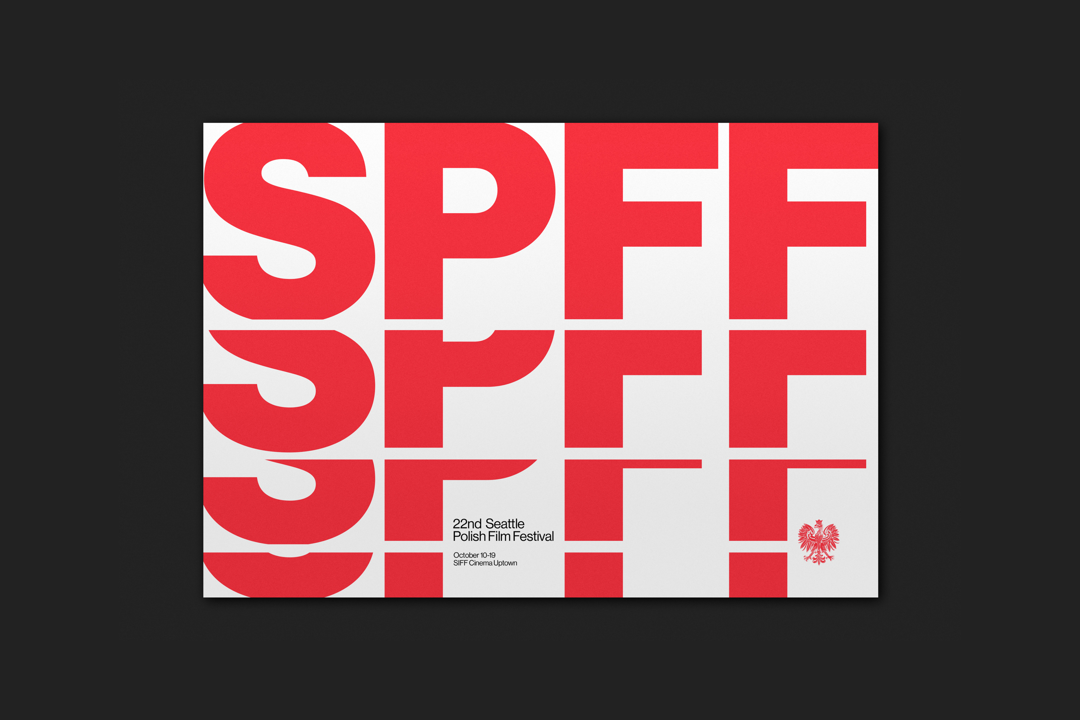Poster Red Seattle Polish Film Festival Rationale Brand Visual Identity