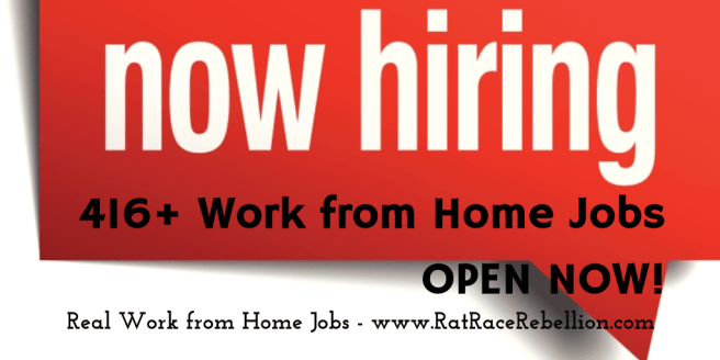 416+ Work from Home Jobs OPEN NOW