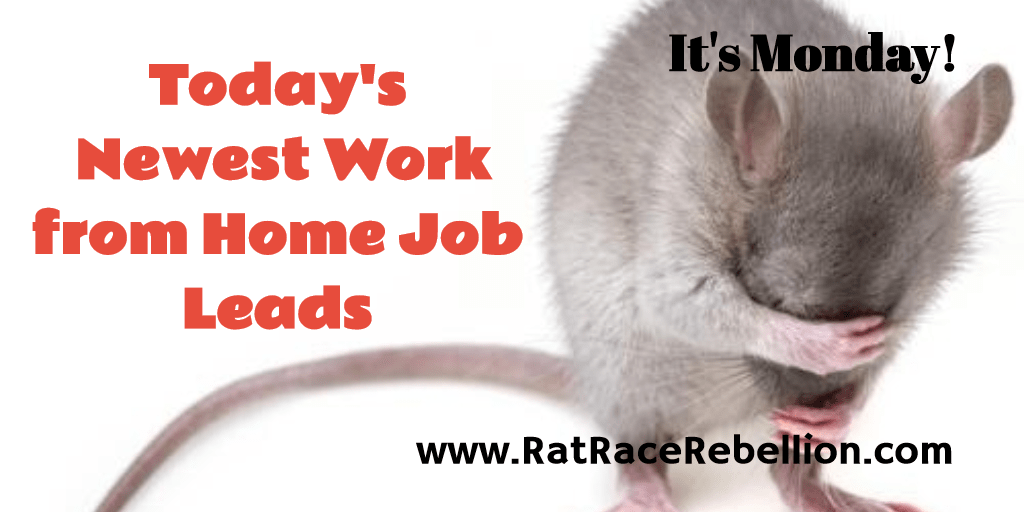 Work from Home Jobs & Gigs - Oct. 24, 2016