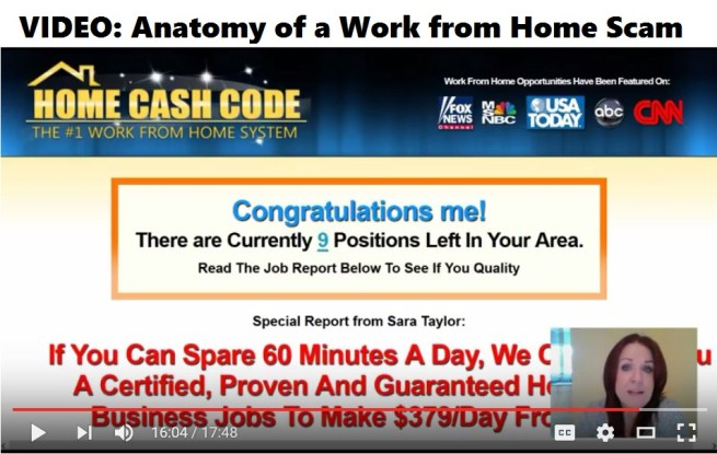 Anatomy of a Work from Home Scam by RatRaceRebellion.com