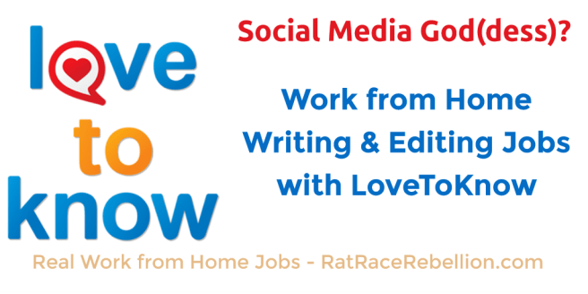 Work from Home Writing or Editing Jobs with LoveToKnow.com
