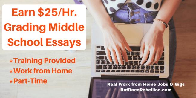 Earn $25%2FHr. Grading Middle School Essays