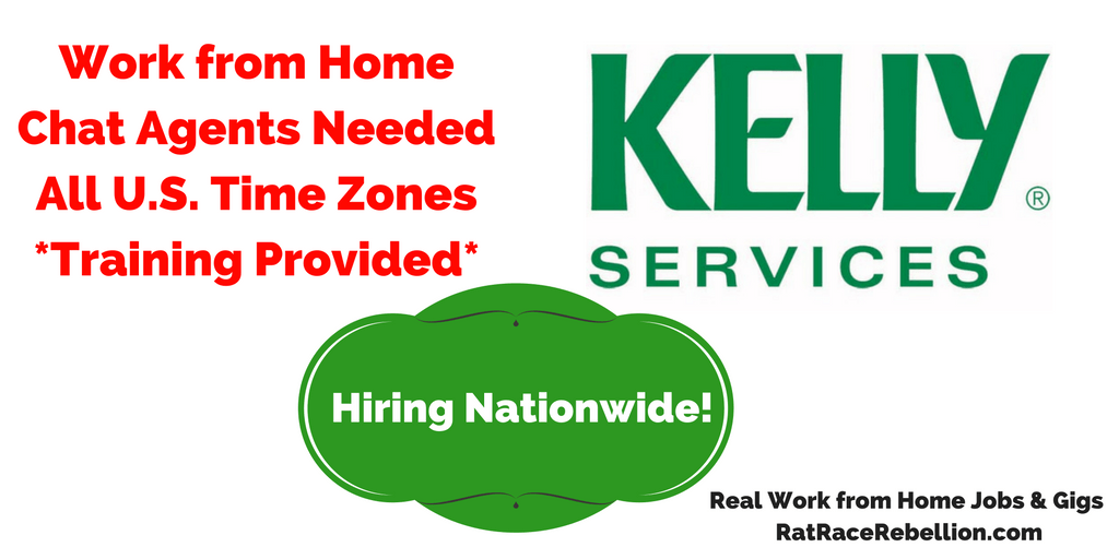 Work from Home Chat Agents Needed at KellyConnect - Training Provided