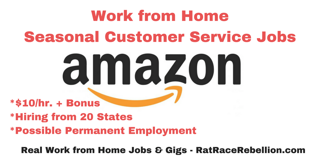 Work from Home at Amazon - Seasonal Customer Service Associate Jobs