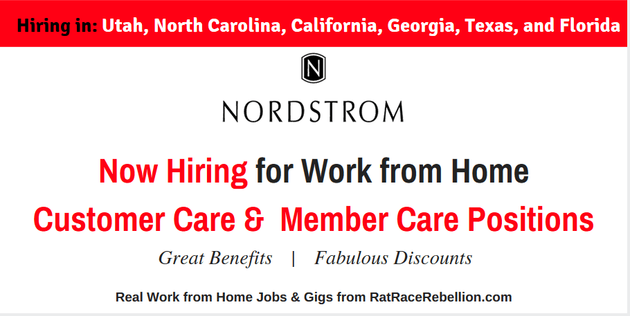 Nordstroms - Now Hiring in Utah, North Carolina, California, Georgia, Texas, and Florida