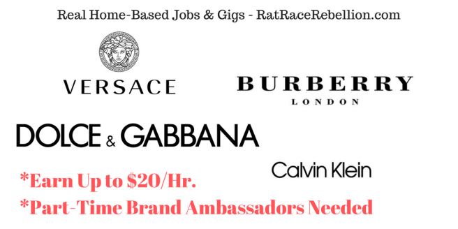 Earn Up to $20%2FHr. as a Brand Ambassador