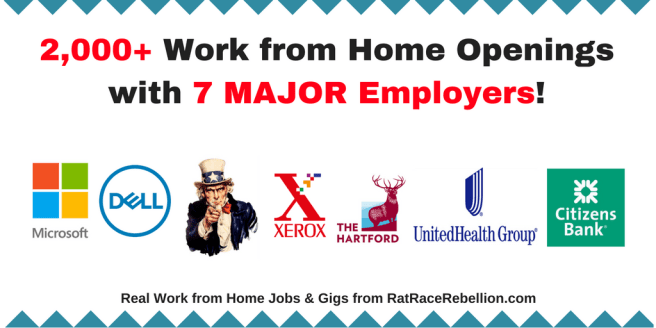 2,000+ Work from Home Openings with 7 MAJOR Employers!