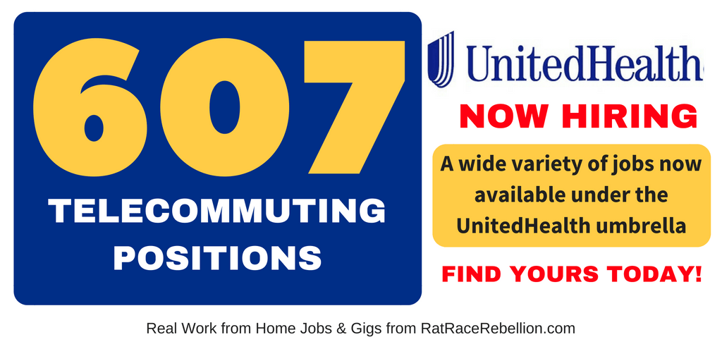 607 Telecommuter Positions Now Available with UnitedHealth Group