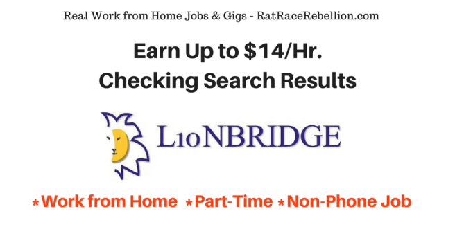 Earn Up to $14%2FHr. Checking Search Results