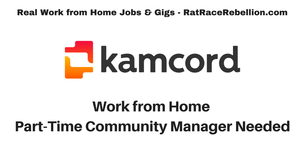 Work from Home Part-Time Community Mgr. Needed