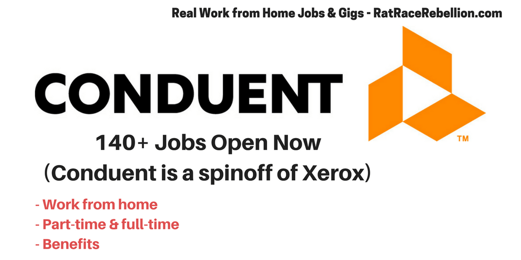 140+ Work from Home Jobs at Xerox/Conduent + Benefits