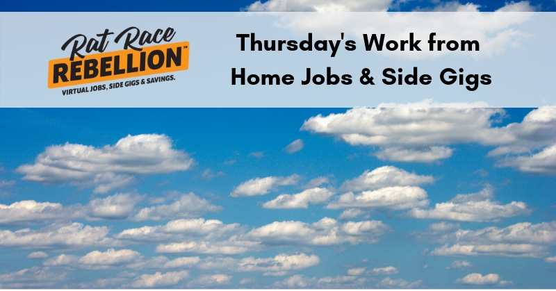Work from Home Jobs  Extra Cash - April 11, 2019 - Work From Home