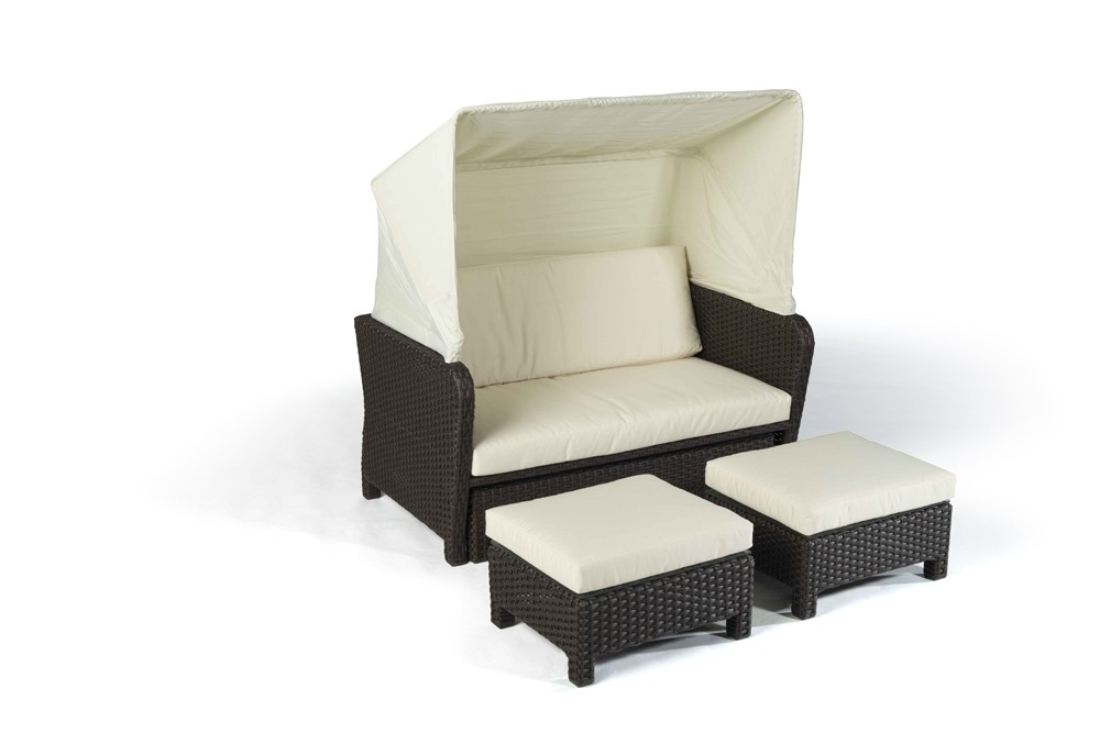 Lounge Liege Outdoor Rattan Lounge Chair Sonnenliege Lorena Braun