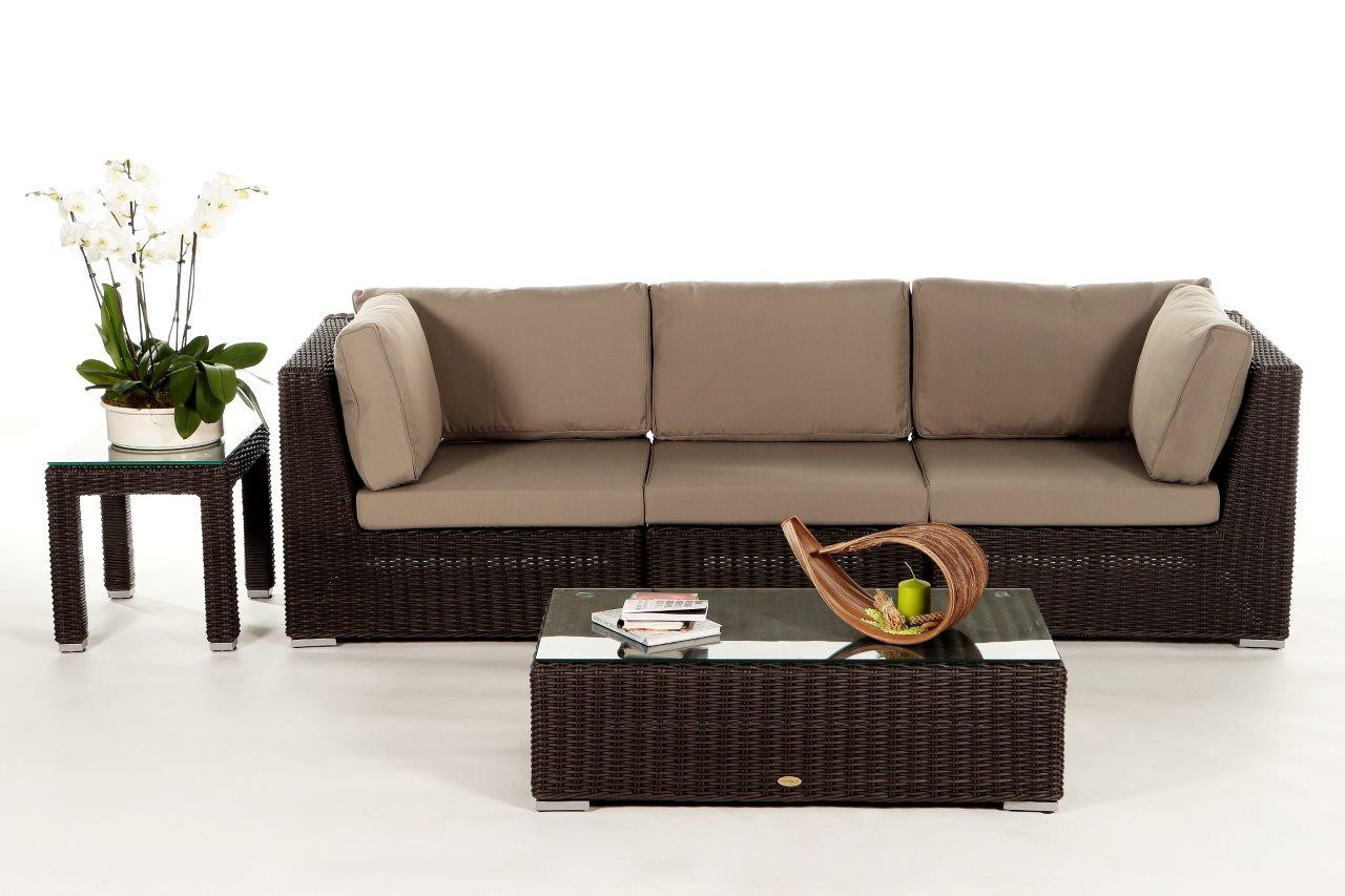 Furniture Warehouse Birmingham Birmingham Rattan 3 Seater Lounge Brown Rattan Garden