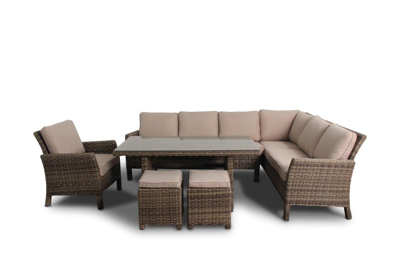 Dining Lounge Rattan Rattan Garden Furniture Dining Lounge In Natural Round