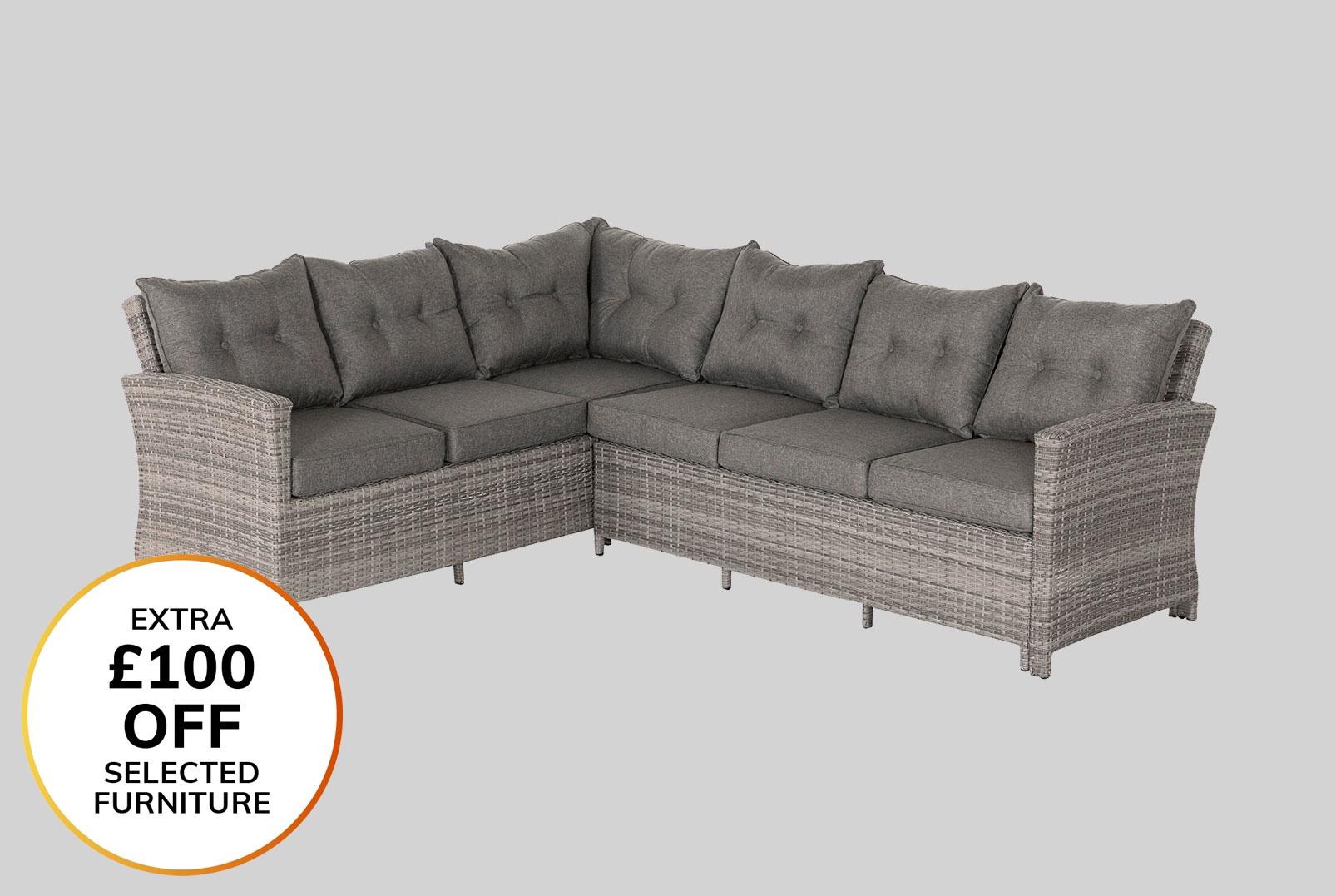 Patio Sofa Sets Uk 349 99 Outsunny 5 Pcs Rattan Sofa Set Brown