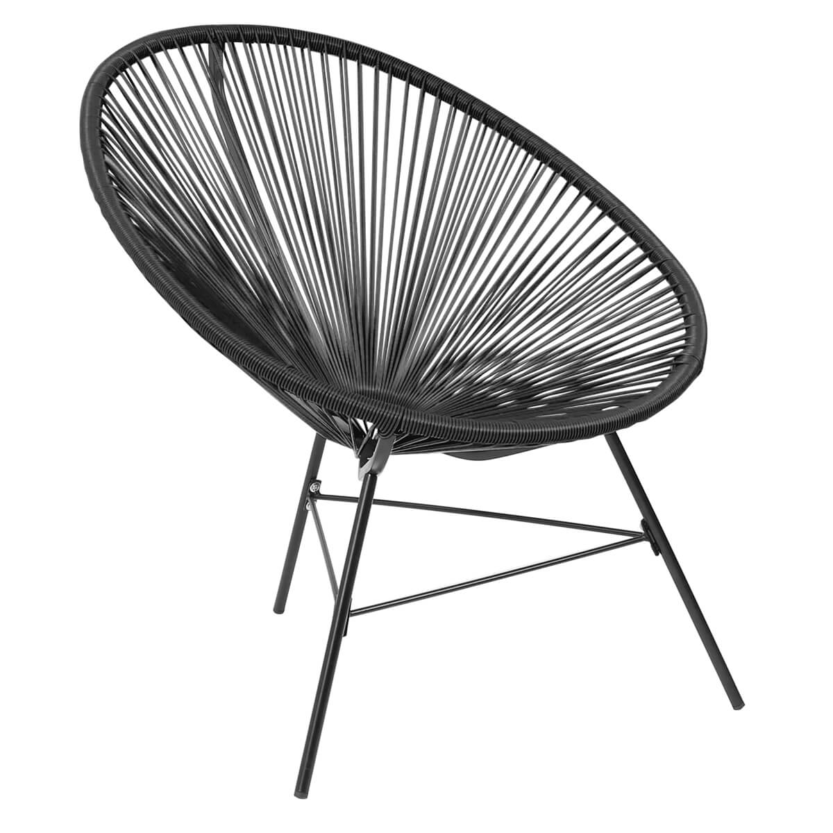 Lounge Sessel Retro Garden Furniture Retro Rattan Lounge Conservatory Chair Black
