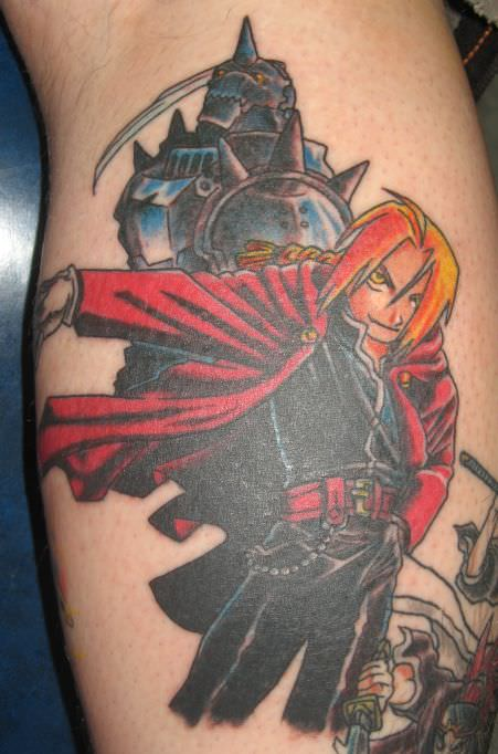 Wallpaper Naruto Shippuden 3d A Tattoo Of The Brothers Edward And Alphonse Elric From