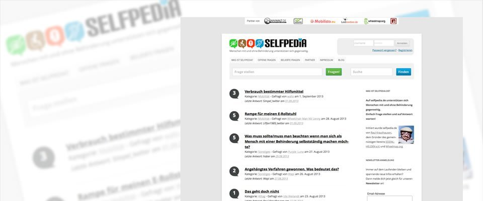 selfpedia.de – Helfen wir uns!