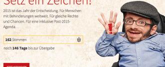 #SetzEinZeichen! – Botschafter für CBM-Kampagne zur Post-2015-Agenda der Vereinten Nationen gesucht.