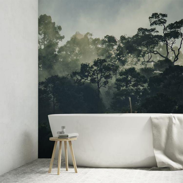 Waterproof Wallpaper For Bathroom. Bathroom Wall Coverings Customized