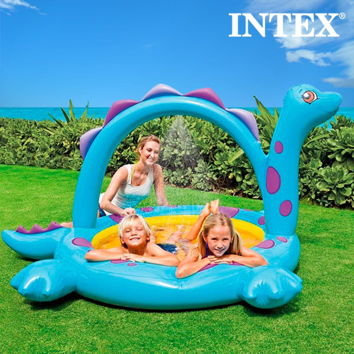 Piscina Intex Niños Piscina Inflable Con Dinosaurio Intex