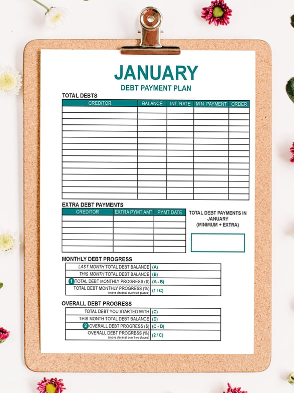 2019 Budget-by-Paycheck Workbook (Digital Download) - The Budget Mom