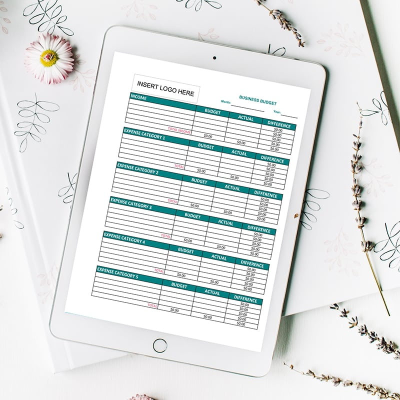 2019 Business Budget Worksheets (Excel) - The Budget Mom