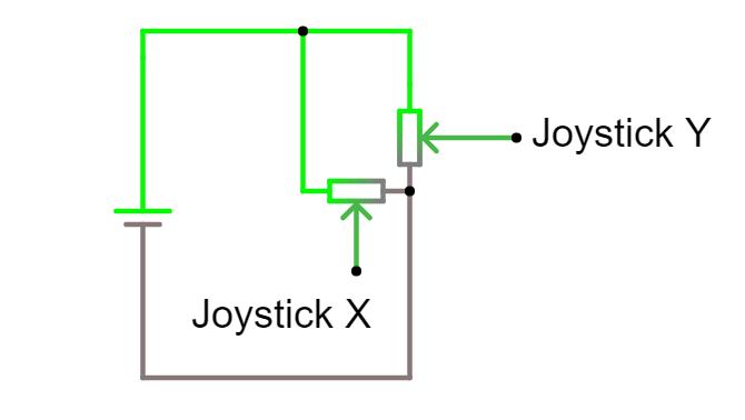 analog joystick circuit diagram