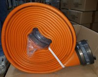 "6"" X 50' Rubber Lay-Flat Supply Hose Coupled Storz 
