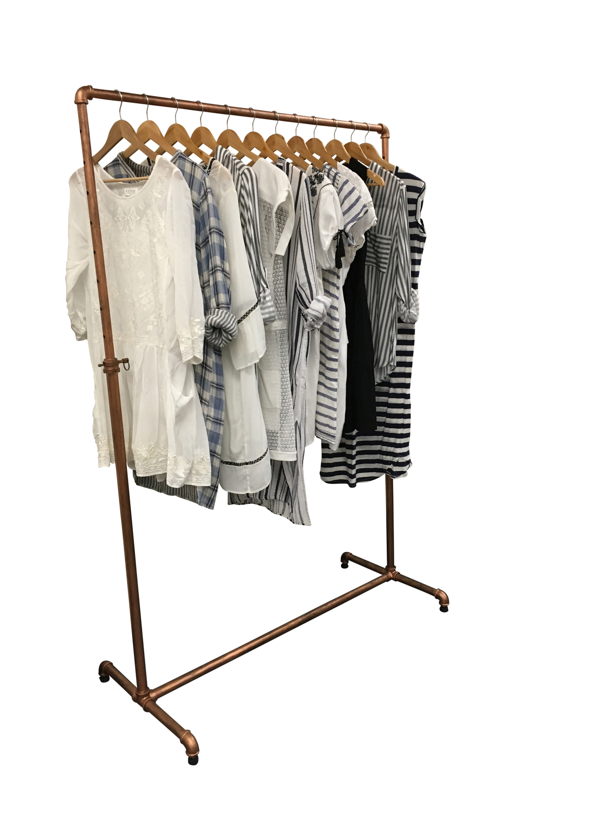 Industrial Clothing Rack Industrial Pipe Clothes Rack Portable Display Rax And Dollies
