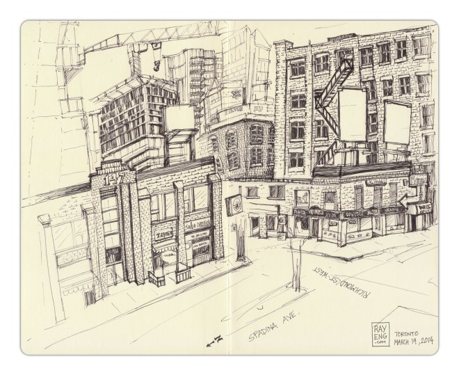 Urban-Sketching-2014-03-Spadina-Richmond