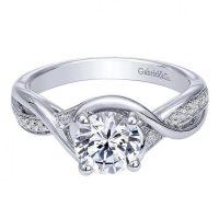 Gabriel & Co. Engagement Rings Criss Cross Diamond Setting ...