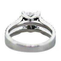 1.50 Carat Cushion Cut Diamond and Platinum Engagement Ring