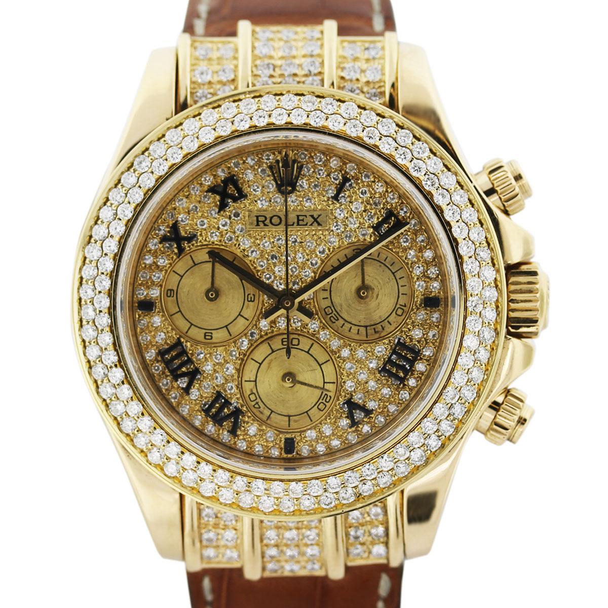 Diamond Watch All Diamond Rolex Daytona 116518 Mens Watch Boca Raton