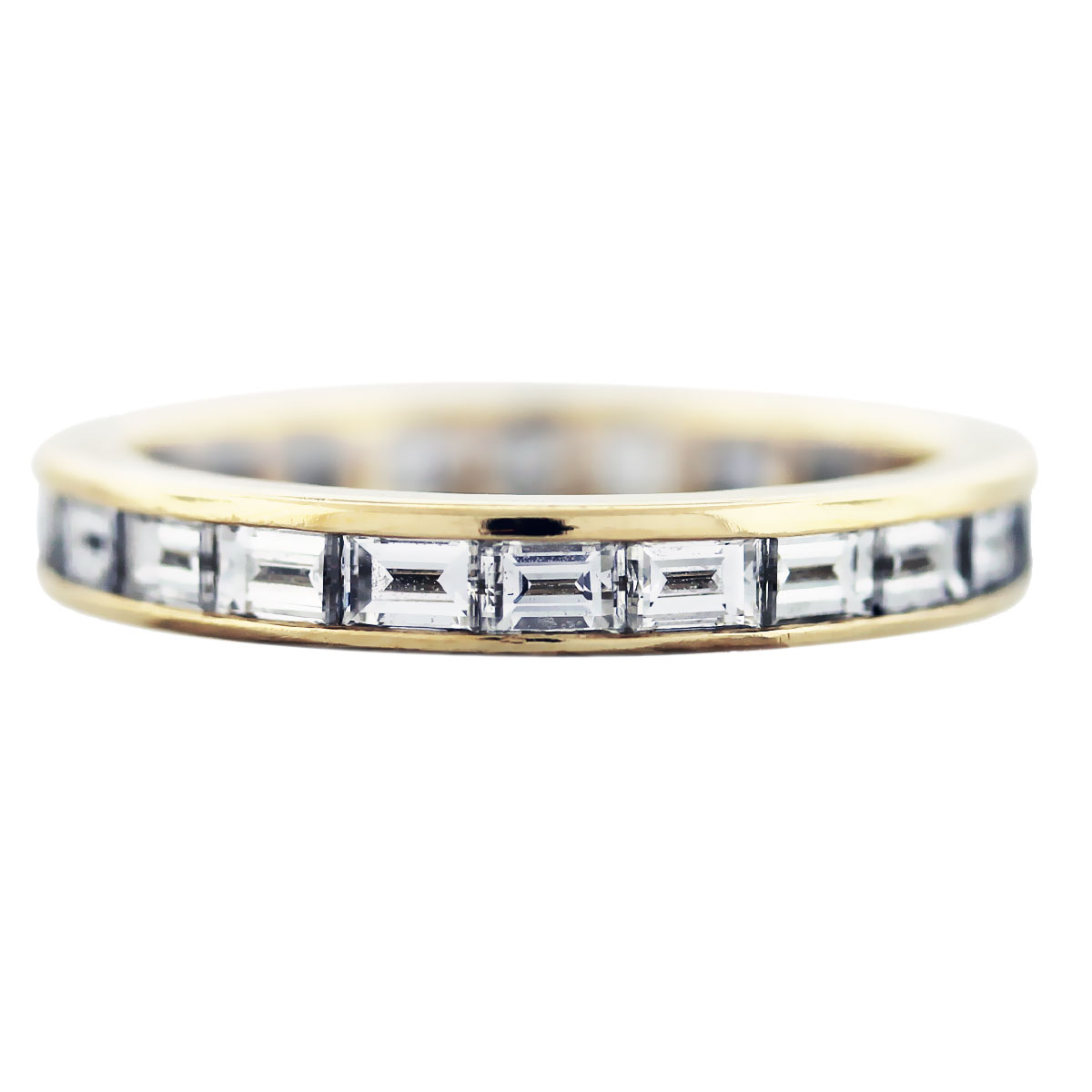tiffany and co baguette cut eternity band 18k yellow gold tiffany wedding bands Tiffany Co Rings