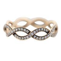 Tiffany and Co Rose Gold Diamond Infinity Ring- Boca Raton