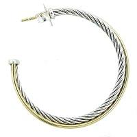 David Yurman Crossover Medium Hoop Earrings-Boca Raton
