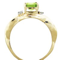 14K Yellow Gold Peridot and Diamond Ring-Boca Raton