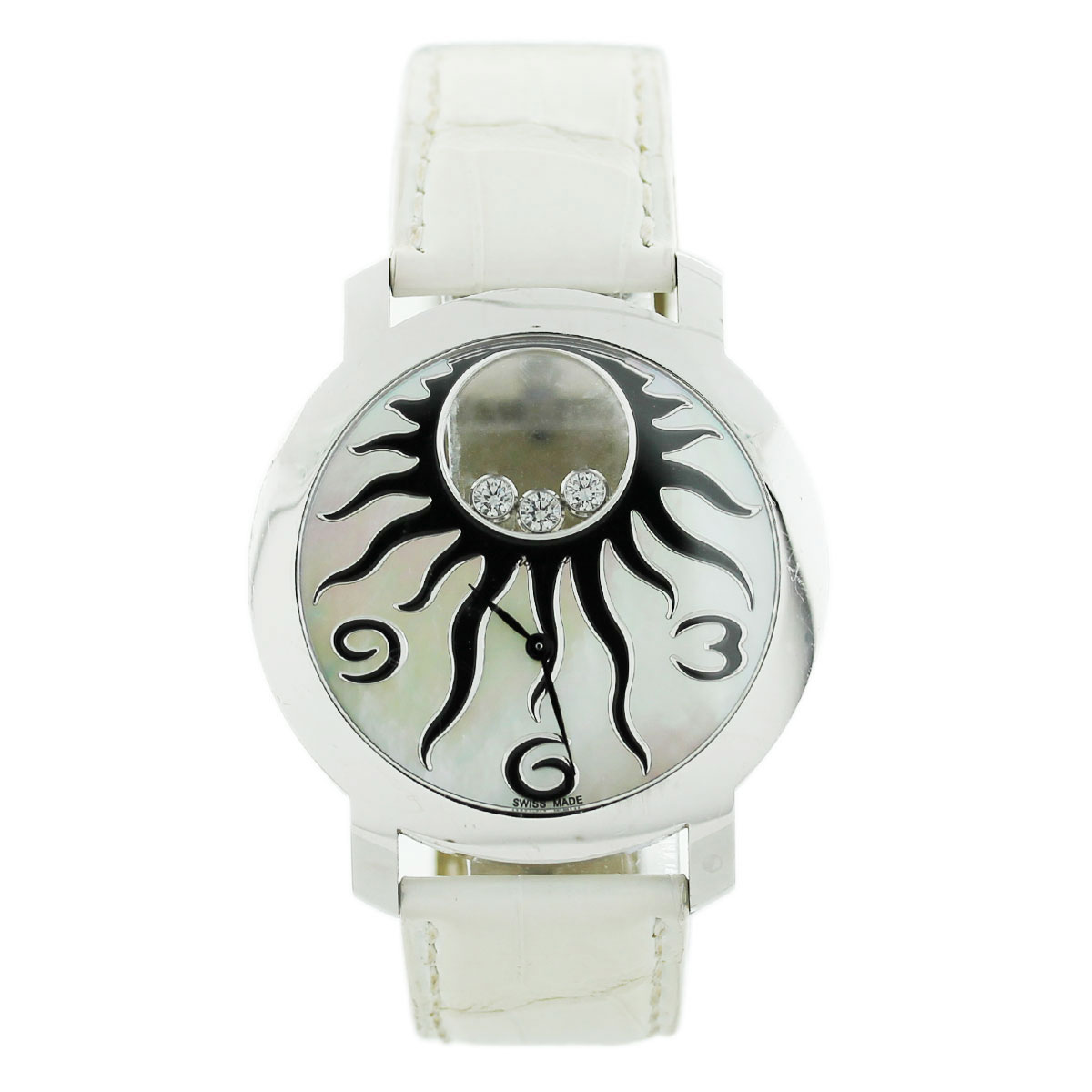 Diamond Watch Chopard Happy Sun 207469 Mother Of Pearl Dial Diamond