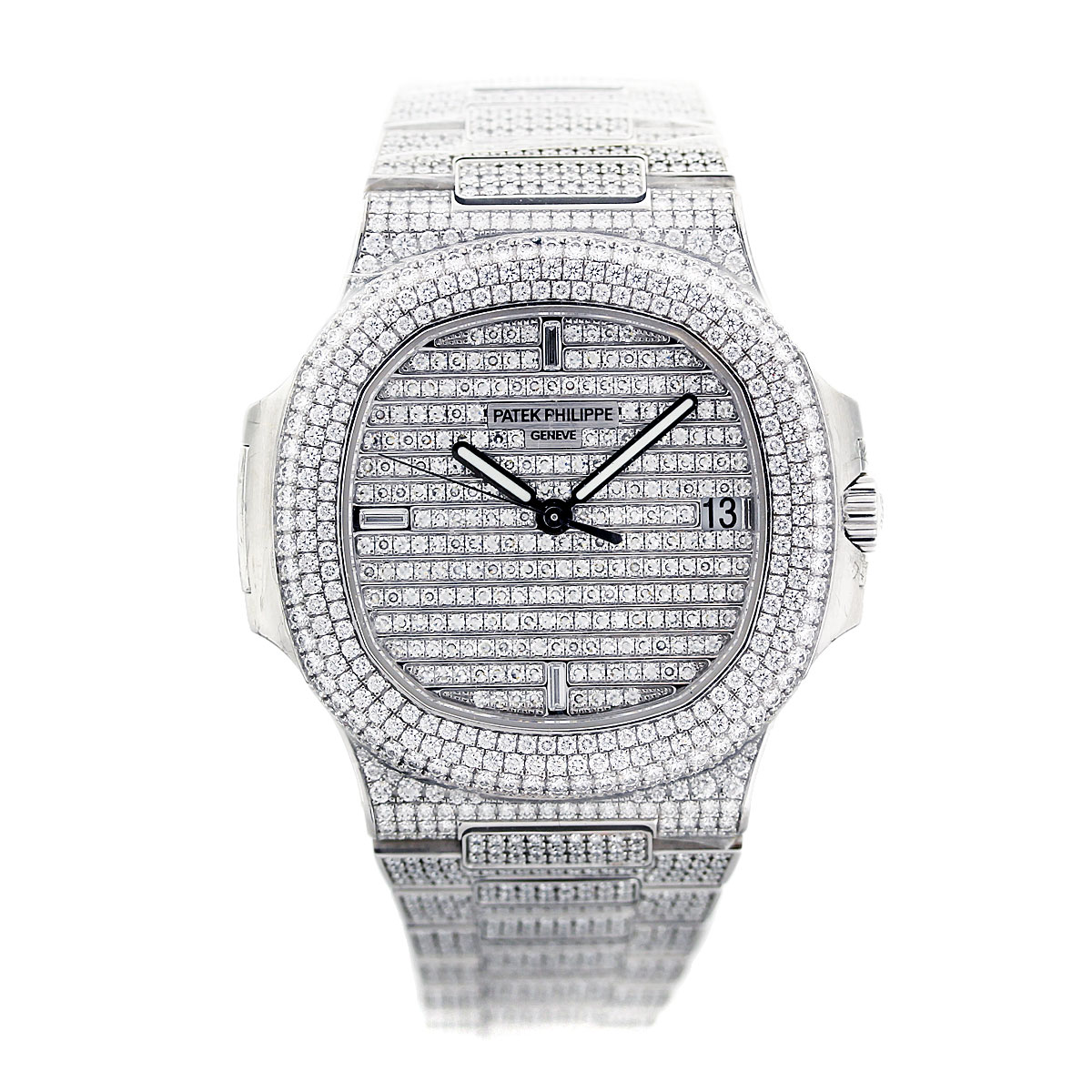 Diamond Watch Patek Philippe 5719 1g Nautilus Diamond Watch