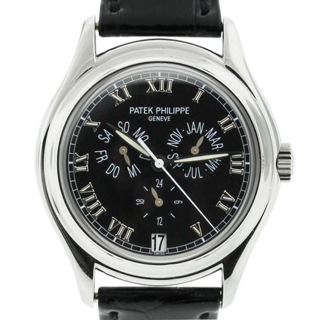 P Philippe Watch Patek Philippe 5035p Annual Calendar Black Roman Dial Mens Watch