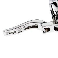 14kt White Gold Garnet Drop Dangle Earrings