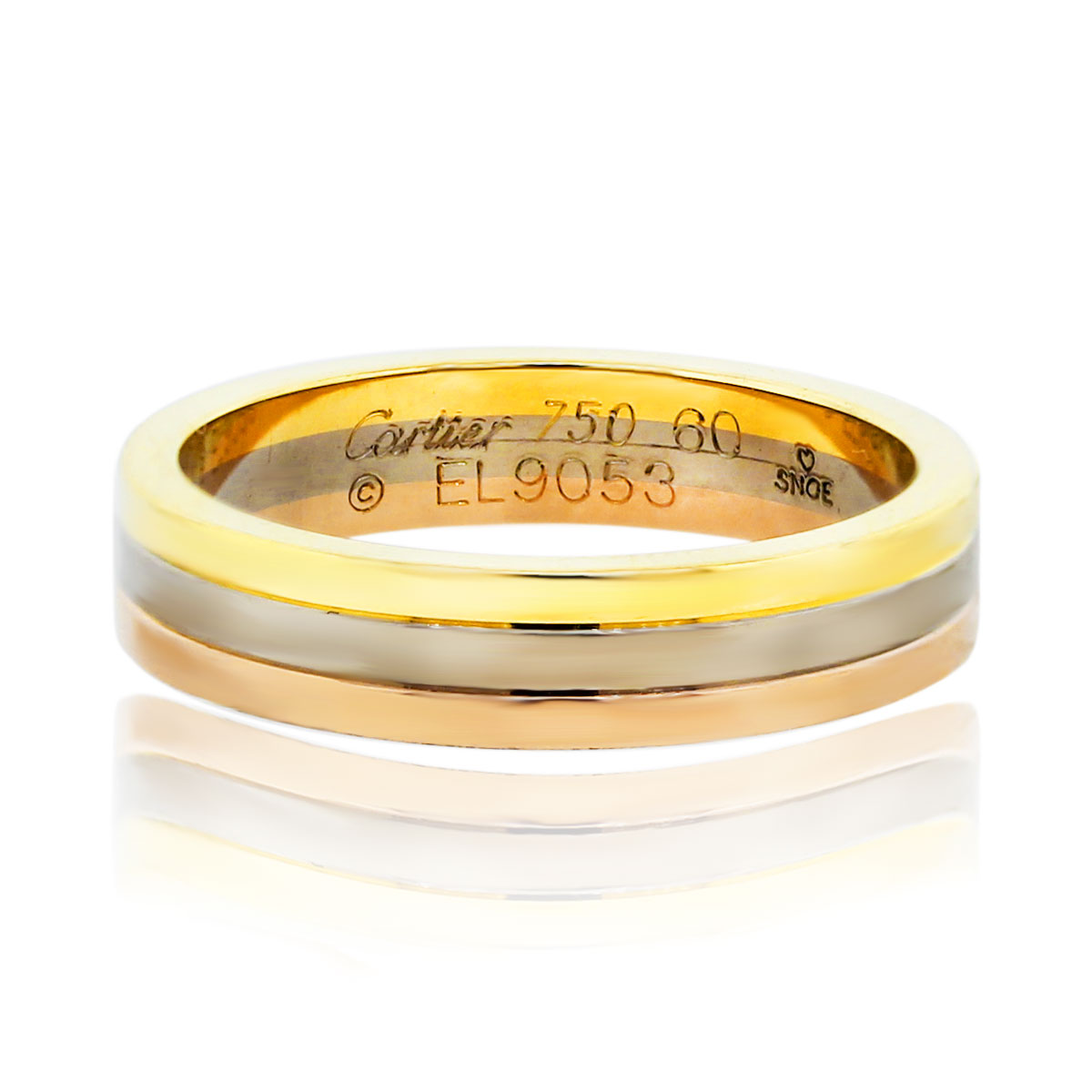 Cartier Tri Color Mens Wedding Band Ring
