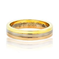 Cartier Tri Color Mens Wedding Band Ring