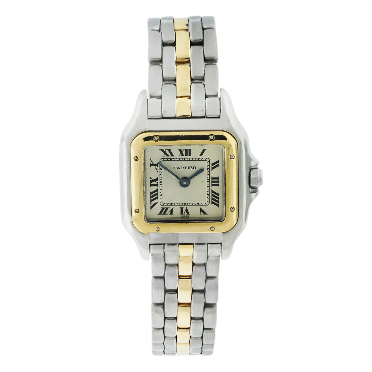 Cartier Panthere Two Tone One Row Bracelet Ladies Watch