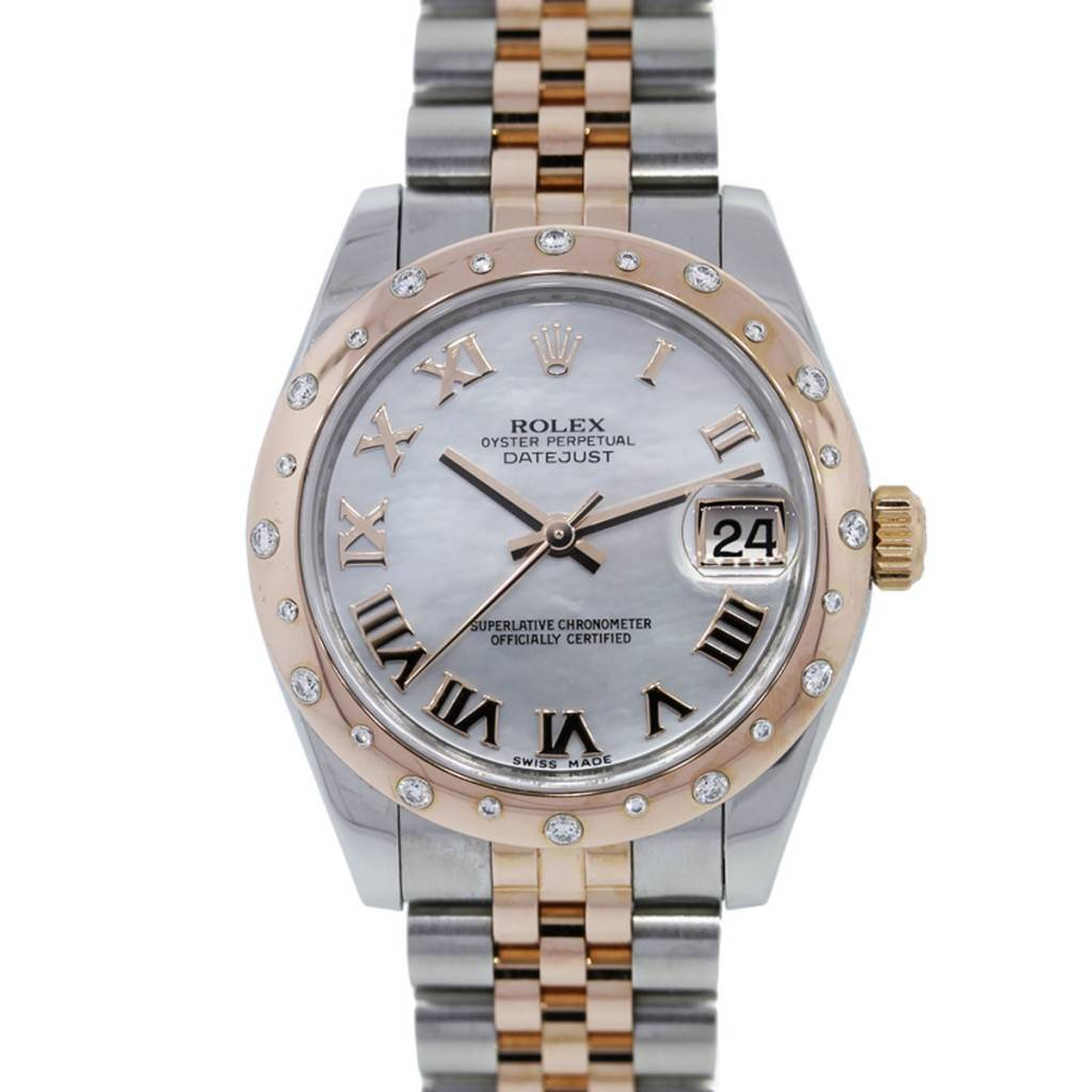 Stainless Rolex Rolex Datejust 178341 Rose Gold Stainless Steel Ladies Watch